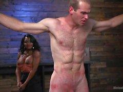 Ebony Dominatrix Punishes Her Sub With Pegging