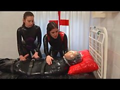 Breathplay threesome sex