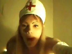 Fucking dressed as a nurse