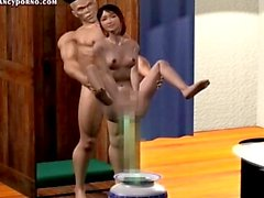 Animated babe gets pussy licked