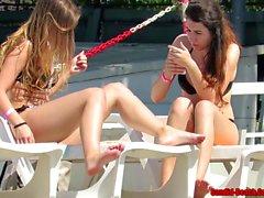 Sexy Bikini Girls Plage Voyeur Vidéo Spycam HD