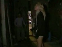 German blond girl fucked in public
