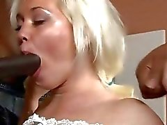 Horny blonde bitch Whitney Grace DP by throbbing black dicks