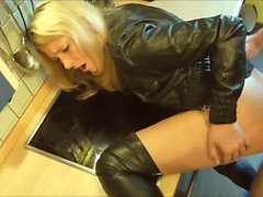 Stunning housewife fucked in the kitchen
