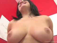 Busty sweetie enjoys pleasing her love button