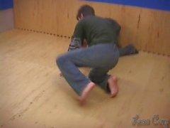 Teacher kicking
