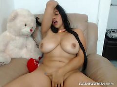 Pretty Hot Blackhaired Plays With Her Juicy Vagina