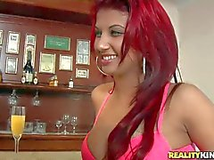 Red haired Latina Kefren Ortega gets her sweet ass licked