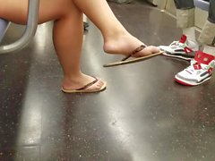 Candid feet and legs