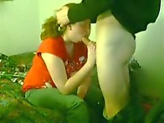 Clothed Chubby Teen Swallows The Lot