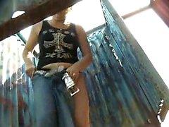 I caught my cute girl fully nude Hidden cam