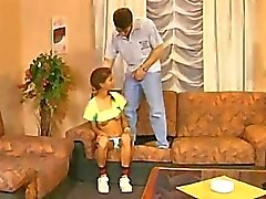 Awkward Hairy Twatted Panty Teen Gets Fucked