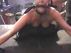Hard BDSM sex for slut with gag