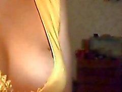 Fille russe suce la bite à webcams en