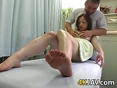 Japanese Cutie Getting A Massage