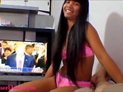 Donald Trump watches Thai teen Heather Deep give deepthroat and get creampie
