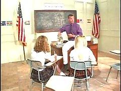 Filthy Schoolgirls Sharing Hot Teacher
