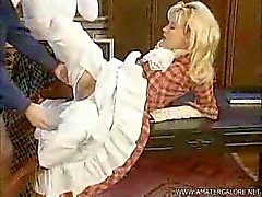 Threesome blonde brune vintage