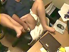 Hidden cam. My nasty mum daily masturbation at computer