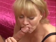 Beautiful mom with very big tits rides dick