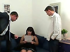 Huge titted bitch gets lured into 3some