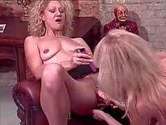Two Blonde Kitties Swallowing Fresh Cum