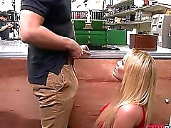 Big tits babe pawns her twat then fucked