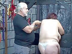 Guy punishes kinky BBW in panties