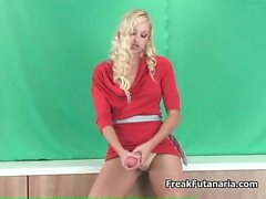 Sexy blonde babe gets horny rubbing part5