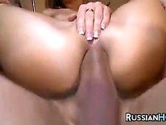 Russian Schoolgirl In A Threesome