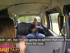 FemaleFakeTaxi Hot female driver fucks lucky British guy on bonnet