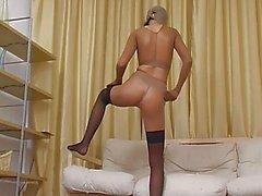 Blonde in thong