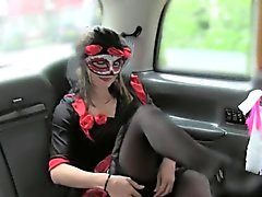Lady in halloween dress does anal