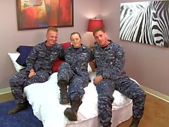 Sexy Navy Petty Officer fucks her Sailors