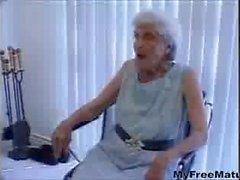 Granny gets old twat stuffed