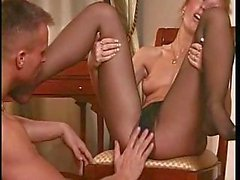 Milf gets licked and fucked in pantyhose