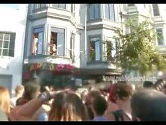 twink gang fucked at the window while crowd watches..folsom st