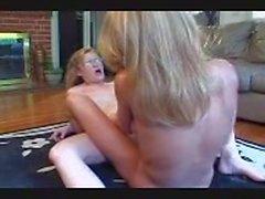 OLder Lesbian Teaching College Girl