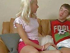 Firm pau peludo para brincalhão garota