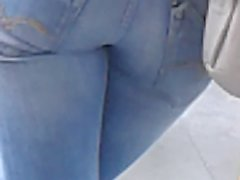 again arabic girl french in tight jeans