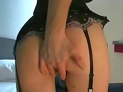 Tight teasing blondie in sexy lingerie