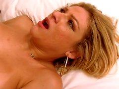 Luana Pacheco - stunning shemale passionate big cock deepthroat and anal.