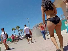 Latina PHAT ASS bikini babe on the street