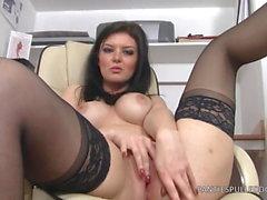 Big Ass UK Vixen Office Slut