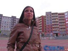 Czech Girl lets guy fuck her on car bonnet for cash