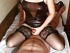 Amateur girlfriend handjob and anal with cumshot