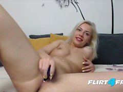Blonde Fetish Bombshell With Nipples Fingers Her Ass