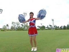 Kurumi Takahashi is playful cheer leader