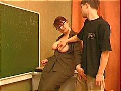 Lärare förför en ung Stud