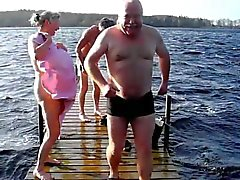 Average day in Denmark - Topless in the lake